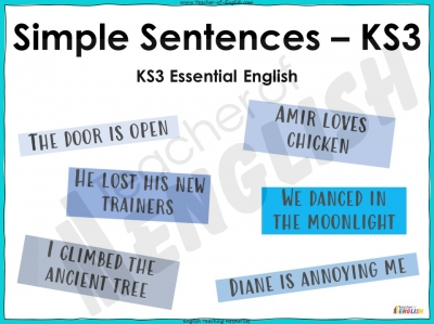 Simple Sentences - KS3