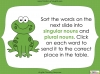 Singular Nouns to Plural Nouns  - Year 1 Teaching Resources (slide 20/67)
