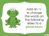 Singular Nouns to Plural Nouns  - Year 1 Teaching Resources (slide 23/67)