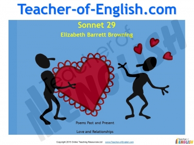 Sonnet 29 by Elizabeth Barrett Browning Teaching Resources