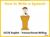 Speech Writing for GCSE Teaching Resources (slide 1/72)