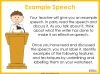 Speech Writing for GCSE Teaching Resources (slide 24/72)