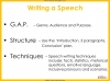 Speech Writing for GCSE Teaching Resources (slide 35/72)