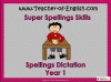 Spellings Dictation Year 1