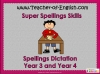 Spellings Dictation Year 3 and Year 4 Teaching Resources (slide 1/101)
