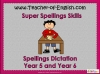 Spellings Dictation Year 5 and Year 6 Teaching Resources (slide 1/95)