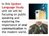 Spoken Language Study (slide 9/87)