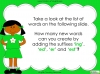 Suffixes - Year 1 Teaching Resources (slide 12/35)
