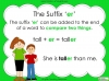 Suffixes - Year 1 Teaching Resources (slide 17/35)