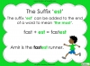 Suffixes - Year 1 Teaching Resources (slide 18/35)