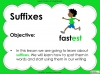 Suffixes - Year 1 Teaching Resources (slide 2/35)