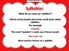 Syllables Teaching Resources (slide 3/10)