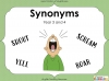Synonyms - Year 3 and 4 Teaching Resources (slide 1/24)