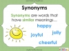 Synonyms - Year 3 and 4 Teaching Resources (slide 5/24)