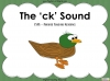 The 'ck' Sound - EYFS Teaching Resources (slide 1/28)