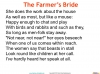 The Farmer's Bride Teaching Resources (slide 10/42)