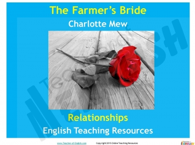 The Farmer's Bride Teaching Resources