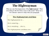 The Highwayman (slide 23/107)