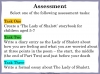 The Lady of Shalott (slide 129/143)