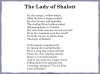 The Lady of Shalott (slide 40/143)