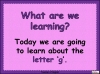 The Letter G Teaching Resources (slide 2/20)