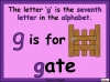 The Letter G Teaching Resources (slide 3/20)