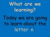 The Letter N Teaching Resources (slide 2/19)