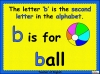 The Letter b Teaching Resources (slide 3/20)