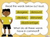 The Prefix 'dis' - Year 3 and 4 Teaching Resources (slide 3/34)