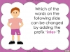 The Prefix 'inter-' - Year 3 and 4 Teaching Resources (slide 10/24)