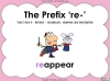 The Prefix 're-' - Year 3 and 4 Teaching Resources (slide 1/24)