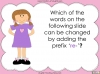 The Prefix 're-' - Year 3 and 4 Teaching Resources (slide 10/24)