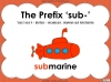 The Prefix 'sub-' - Year 3 and 4 Teaching Resources (slide 1/24)