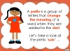 The Prefix 'sub-' - Year 3 and 4 Teaching Resources (slide 4/24)
