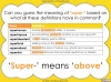 The Prefix 'super-' - Year 3 and 4 Teaching Resources (slide 8/23)