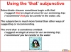 The Subjunctive (slide 10/13)