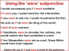 The Subjunctive (slide 7/13)