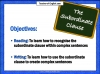 The Subordinate Clause Teaching Resources (slide 2/13)