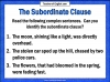 The Subordinate Clause Teaching Resources (slide 5/13)