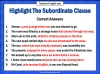 The Subordinate Clause Teaching Resources (slide 8/13)