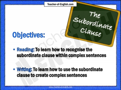 Main and subordinate clauses?