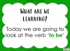 The Verb 'To be' (slide 2/54)