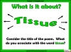 Tissue by Imtiaz Dharker (slide 5/35)