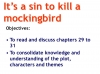 To Kill a Mockingbird (KS3) Teaching Resources (slide 196/229)