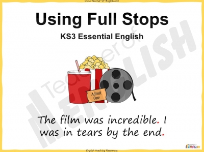 Using Full Stops - KS3