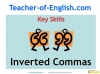 Using Inverted Commas (slide 1/10)
