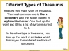 Using a Thesaurus Teaching Resources (slide 5/9)