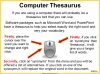 Using a Thesaurus Teaching Resources (slide 6/9)