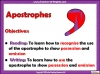 Using the Apostrophe Teaching Resources (slide 2/12)