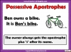 Using the Apostrophe Teaching Resources (slide 4/12)